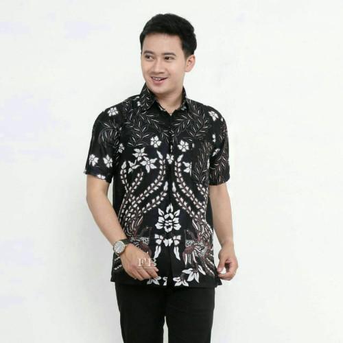 Foto Produk Baju BATIK PRIA SIZE JUMBO MURAH 2 - Hitam, XXXL dari kulop batik