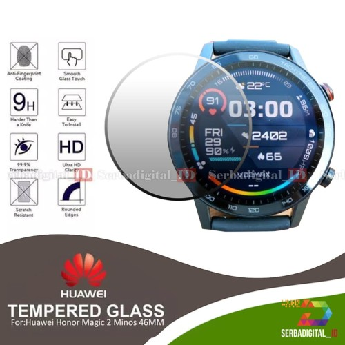 Foto Produk Antigores/Screen Protecor Tempered Glass For Honor Magic Watch 2 46mm dari serbadigital-id