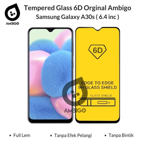 Foto Produk Samsung A10s A20s A30s M30s Tempered Glass 6D Full Cover Ambigo - Hitam, A20S dari Jagonya Case