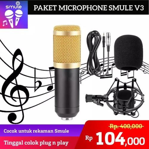 Foto Produk Microphone Mic BM800 BM 800 BM-800 Kondenser Condenser Home For Record - Hitam dari Unitech Official
