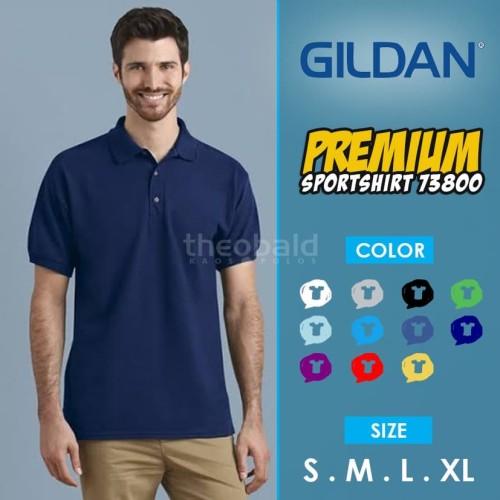 Foto Produk Kaos Polo Shirt Gildan 73800 Sport Shirt Original dari Kaos Polos Theobald