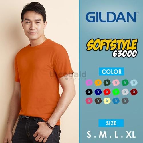 Foto Produk KAOS POLOS GILDAN 63000 Softstyle ( COLOR, SIZE XS-XL ) dari Kaos Polos Theobald