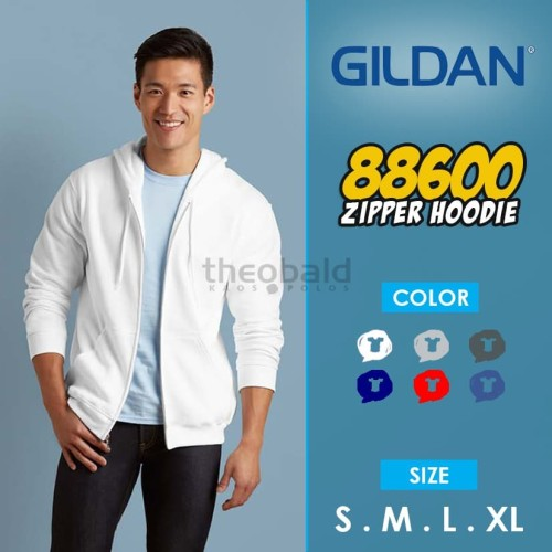Foto Produk Jaket Gildan Zipper 88600 Originall dari Kaos Polos Theobald