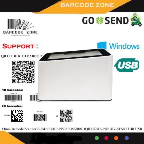 Foto Produk 2D OMNI BARCODE SCANNER EPPOS EP-5300C - PUTIH (QR CODE/EFAKTUR) dari Barcode Zone