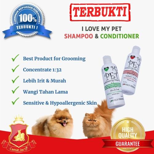 Foto Produk I Love My Pet Natural Shampoo Concentrate 1:32 Anjing Kucing Hewan dari Caesar Jac'O