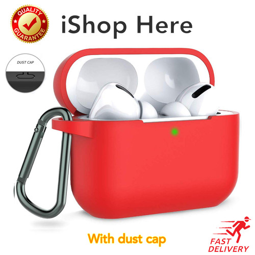 Foto Produk Casing Apple AirPods Pro Silicon Case with Hook LED Visible Airpod Pro - Merah dari iShop Here