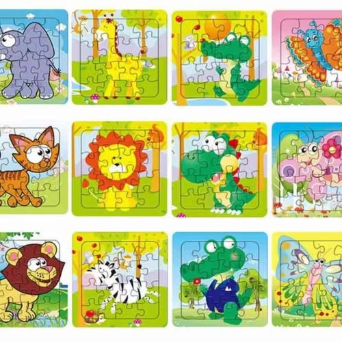 Foto Produk Mainan Edukasi Jigsaw Puzzle 16 Keping dari nicky888