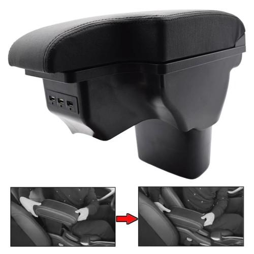 Foto Produk Armrest Box USB Juke - Console Box Nissan Juke Konsol Khusus - Jahitan HITAM dari OMEXTRA