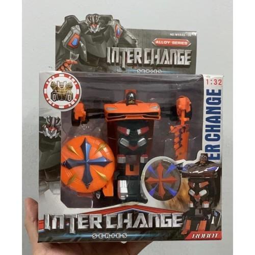 Foto Produk Mainan Robot Transformer Die Cast InterChange - warna random dari EAZYTOYS