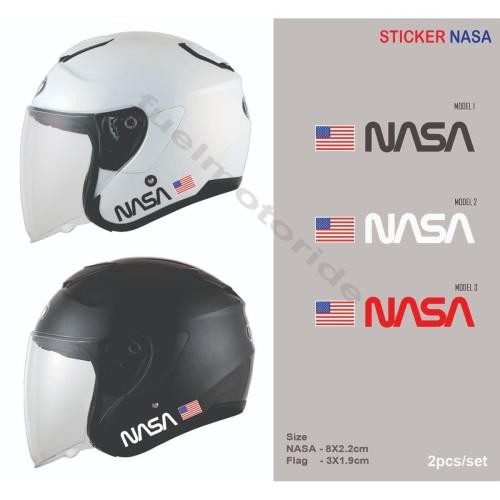 Foto Produk Sticker Helm NASA KYT Kyoto INK Arai Shoei Shark Nolan HJC KBC Zeus dari Fuel
