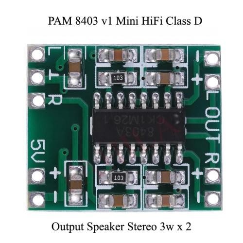 Foto Produk Kit Modul PAM 8403 v1 Mini 5V Digital Amplifier Class D dari Fahilacom