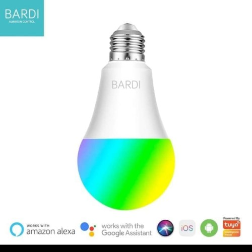 Foto Produk BARDI Smartb 9W RGBWW Light Bulb Wifi wireless Lot For Home Automatio dari Supplier Security System