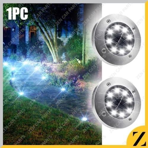 Foto Produk Lampu Taman Bulat 8 LED Outdoor Tancap Tenaga Matahari Solar Mood - Putih dari Zen Car Parts