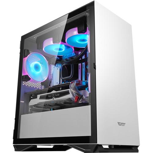 Foto Produk AIGO DLM22 DARKFLASH MATX CASING CASE PC - Putih dari silicon ONE Computer