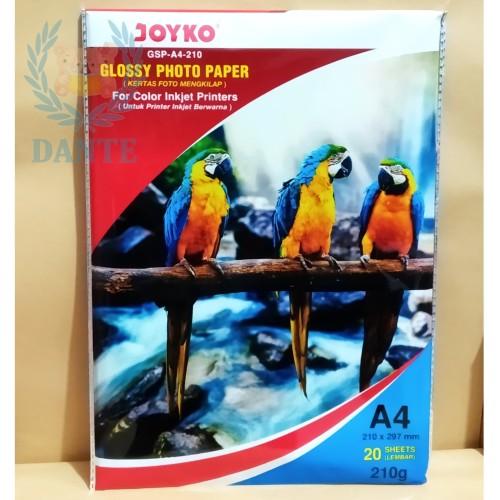 Foto Produk Glossy Photo Paper Joyko GSP A4 210 / Kertas Foto dari Dante