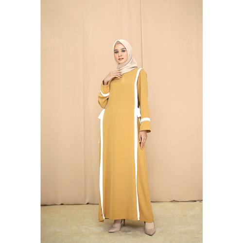 Foto Produk Nafashakila Nura Gamis, Abaya Hitam dan Kuning - Kuning dari nafashakila