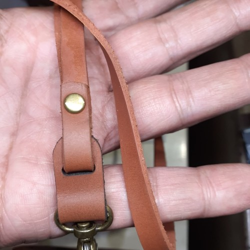 Foto Produk Tali id Card lanyard universal 7mm kulit asli dari Fruna Phonsel