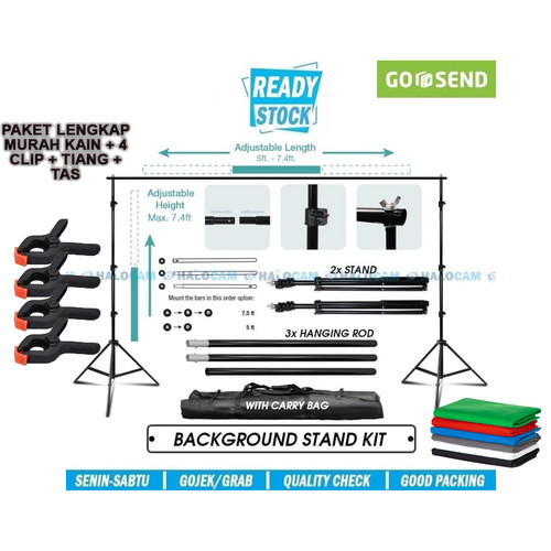 Foto Produk Bracket Stand 10ft untuk Backdrop Tiang Stand Background Foto Studio 4 dari WishingDream2