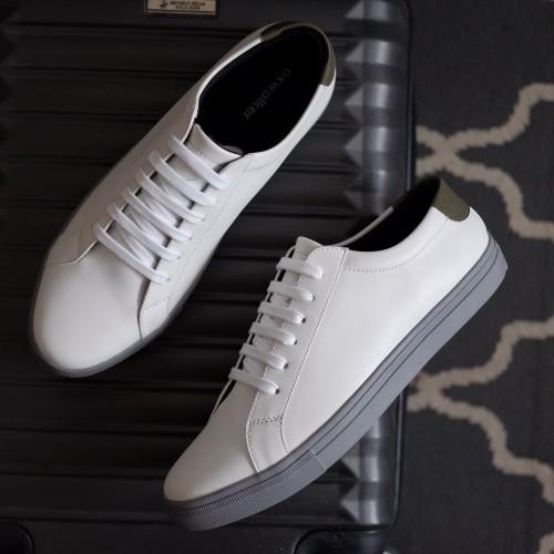 Foto Produk Sepatu Putih Pria Sneakers Casual Cowok - SENNA WHITE GREY - OXWALKER - 40 dari sepatulokalid