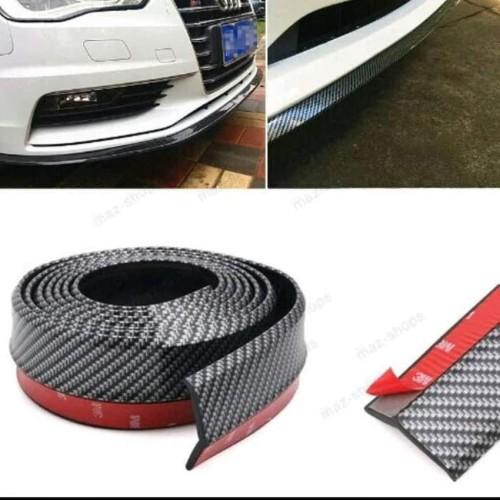 Foto Produk Pelindung Bemper SAMURAI Car Lips Bumper Karet Carbon Mobil 3D dari lbagstore