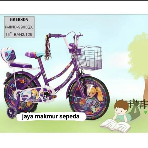 Foto Produk Sepeda mini 16 inch Morison beauty barbie 3380 dari Jaya makmur sepeda