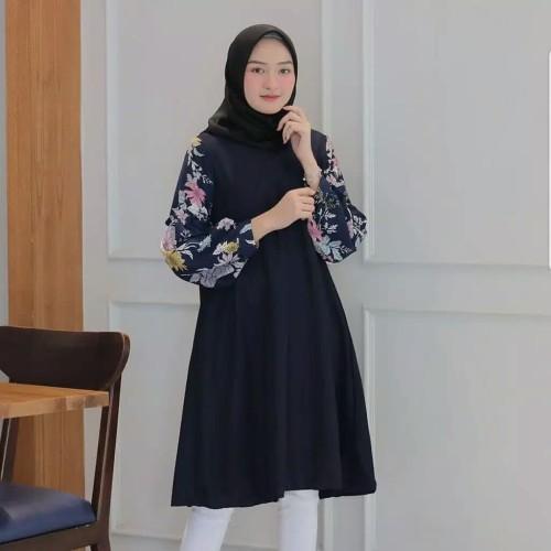 Foto Produk baju atasan wanita terbaru / tunik remaja motif bunga dari Ratu_fashionmuslim