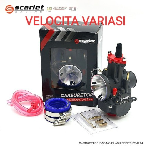 Foto Produk Karbu karburator scarlet black series PWK 26 28 Bkn ktc keihin panom - PWK 26 dari Velocita Variasi