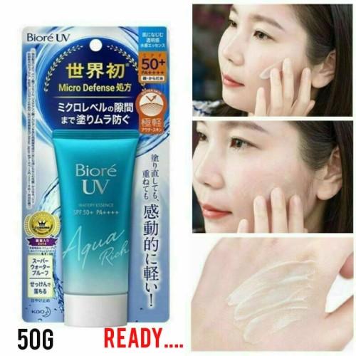 Foto Produk biore uv aqua rich watery essence spf 50 50gr/ sunblock spf 50 japan dari GIAshob