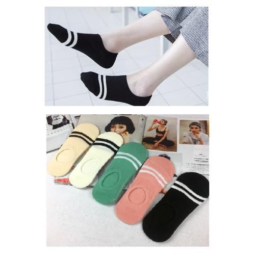 Foto Produk KK31 Kaos Kaki Pendek Wanita Japanese Two line Women Low Socks dari EnnWen Online Store