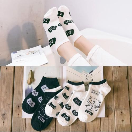 Foto Produk KK30 Kaos Kaki Pendek Wanita Japanese Shibuya Cat Women Ankle Socks - shibuya dua dari EnnWen Online Store