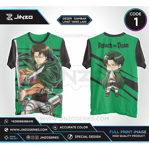 Foto Produk Kaos Anime Attack On Titan SNK Levi Full Print - CODE SATU, M dari Jinzo Series
