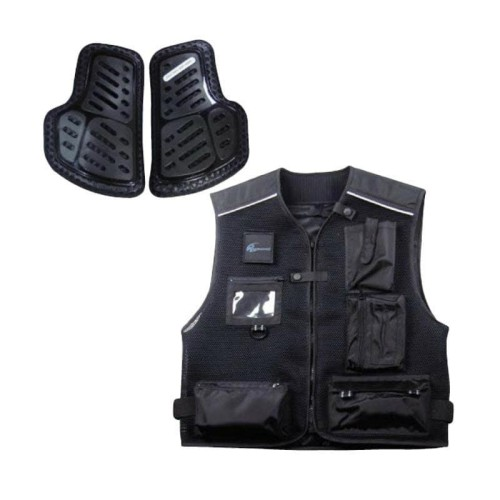 Foto Produk KOMINE JK-661 Protect Mesh Vest Jaket Rompi Motor - Black - L dari Helm Cargloss