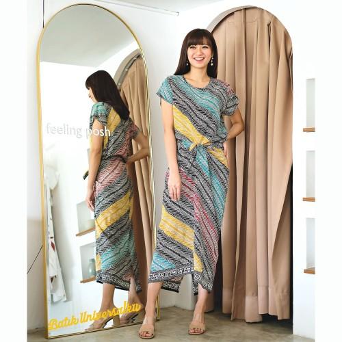 Foto Produk Dress Batik Modern. Terusan Batik Wanita Kerja Kantor - Parang Rainbow dari Batik Universal