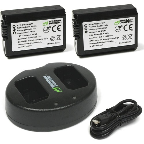 Foto Produk Wasabi Power Battery Kit for Sony NP-FW50 (A5000, A6000, A6500, A7) dari Smatree Indonesia