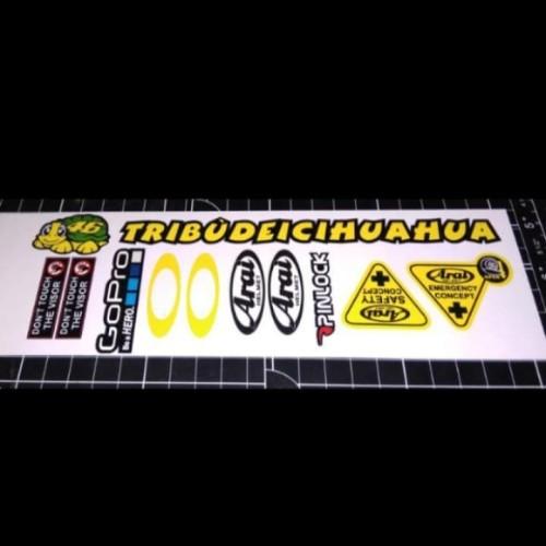 Foto Produk sticker set visor helm arai dari Sticker online