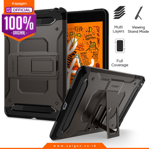 Foto Produk Case iPad Mini 5 2019 Spigen Tough Armor TECH with Stand Casing - Gunmetal dari Spigen Official