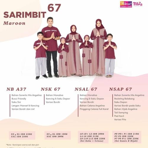 Foto Produk Sarimbit Keluarga 67 Maroon Nibras - Maroon, Ayah XS Sd XL dari toko inayya