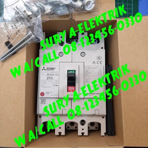 Foto Produk breaker mccb mcb mitsubishi nf250-cw 250a NF250CW nf250cw nfb 250A NFB dari SURYA-ELEKTRIK
