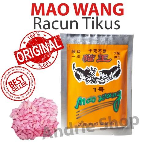 Foto Produk Racun Tikus MAO WANG Umpan Tikus Ampuh Mati Kering 100% Original dari Andrie Shop