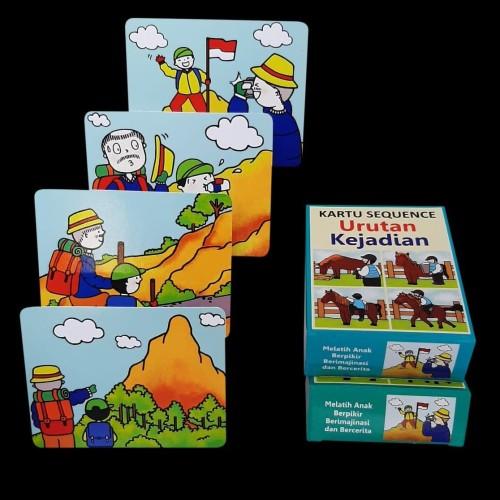 Foto Produk Kartu Sequence - Urutan Kejadian - Flashcard Sequence - Flash Card dari Kinantikomik