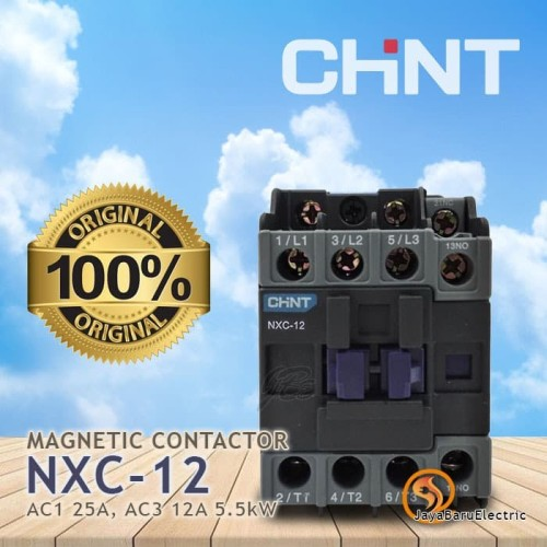 Foto Produk Contactor Kontaktor CHINT NXC-12 NXC12 24V 36V 110V 220V 400V - 110V dari Toko OL Sinar Jaya Baru