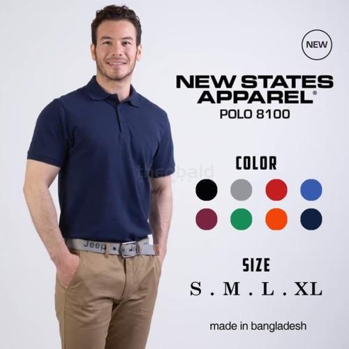 Foto Produk Kaos Polos New States Premium Cotton Polo Shirt 8100 COLOR,SIZE S-XL dari Kaos Polos Theobald