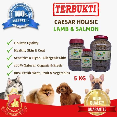 Foto Produk Makanan Anjing / Dog Food Caesar Natural Holistic Lamb & Salmon 5kg dari Caesar Jac'O