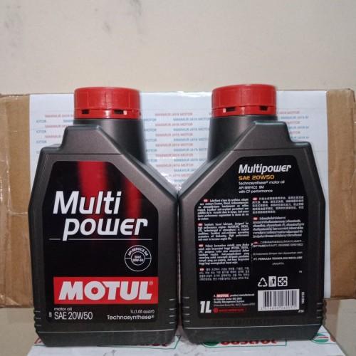 Foto Produk Motul Multi Power Sae 20w50 1 Liter (Dijamin Asli) dari MAKMUR JAYA MOTOR PASAR