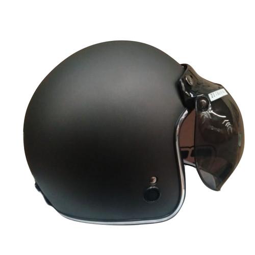 Foto Produk Helm Igloo Retro Gunmet Doff List Chrome Silver (Free Visor) L dari GudangHelm