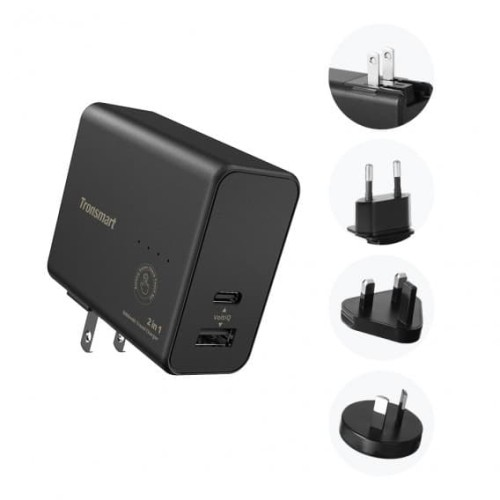 Foto Produk Tronsmart 2in1 Universal Wall charger VoltiQ and powerbank 5000mAh dari Tronsmart