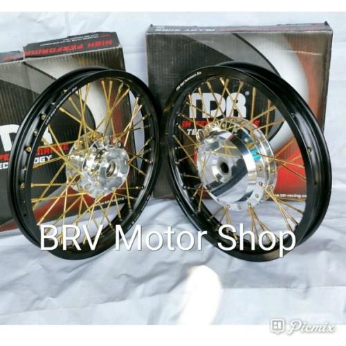 Foto Produk Sepaket Velg Tdr Ring 14 Scoopy Beat Vario Mio X Ride Spin S 122 MEG dari LINAR VARIASI