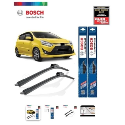 Foto Produk Wiper Mobil Frameless Toyota Agya Sepasang Bosch Clear Advantage dari Prime Auto Variasi