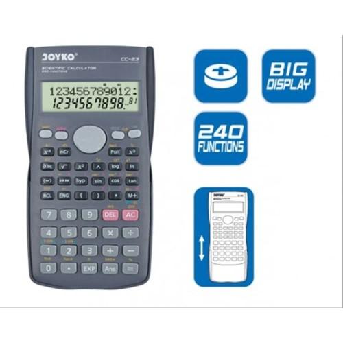 Foto Produk Joyko Calculator CC-23 Scientific Kalkulator Ilmiah 240 Functions CC23 dari CENTRO TRADING