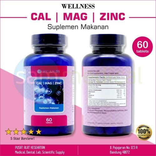 Foto Produk Wellness Cal Mag Zinc Vitamin Tulang Keropos 60 Kapsul dari SAM Medical